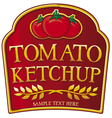 Tomato ketchup label vector