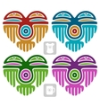 Indian pattern set in the shape of heart vector