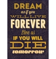 Typography motivational  can be used as a postcard vector