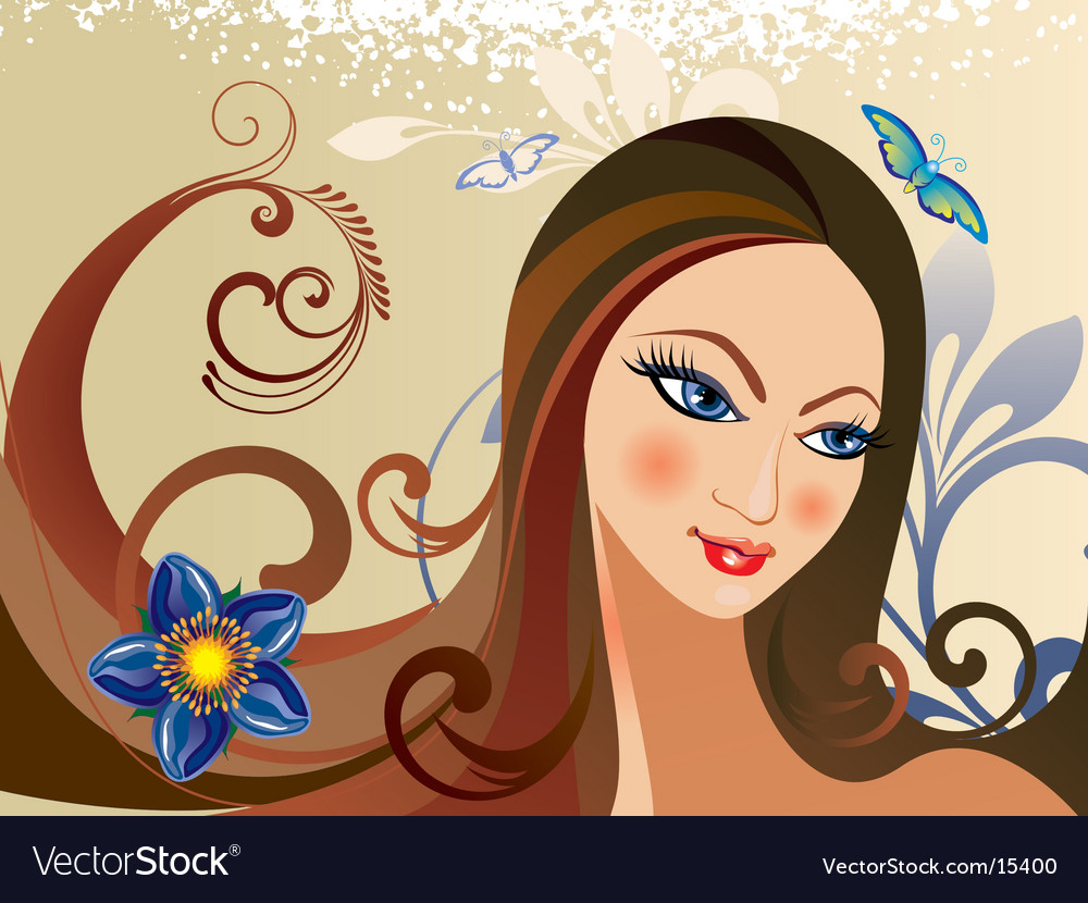 Beautiful girl vector | Price: 3 Credit (USD $3)