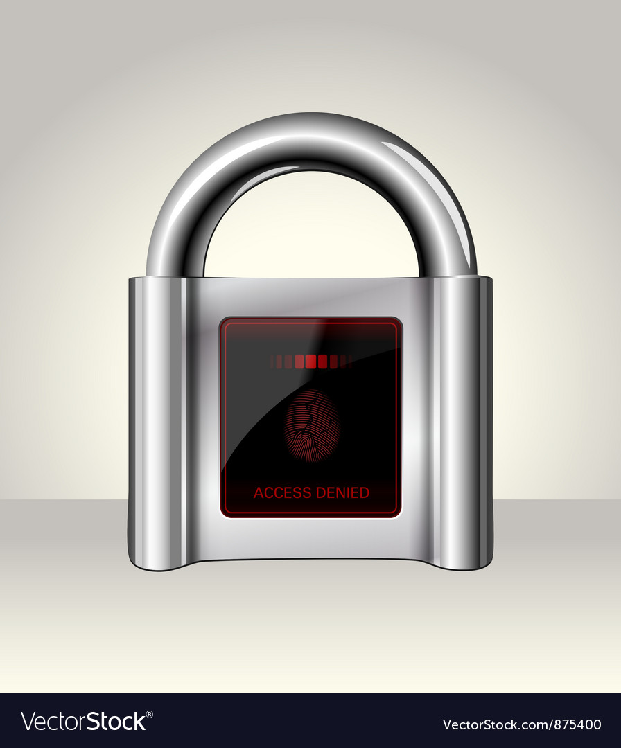 Closed padlock with touch screen vector | Price: 1 Credit (USD $1)