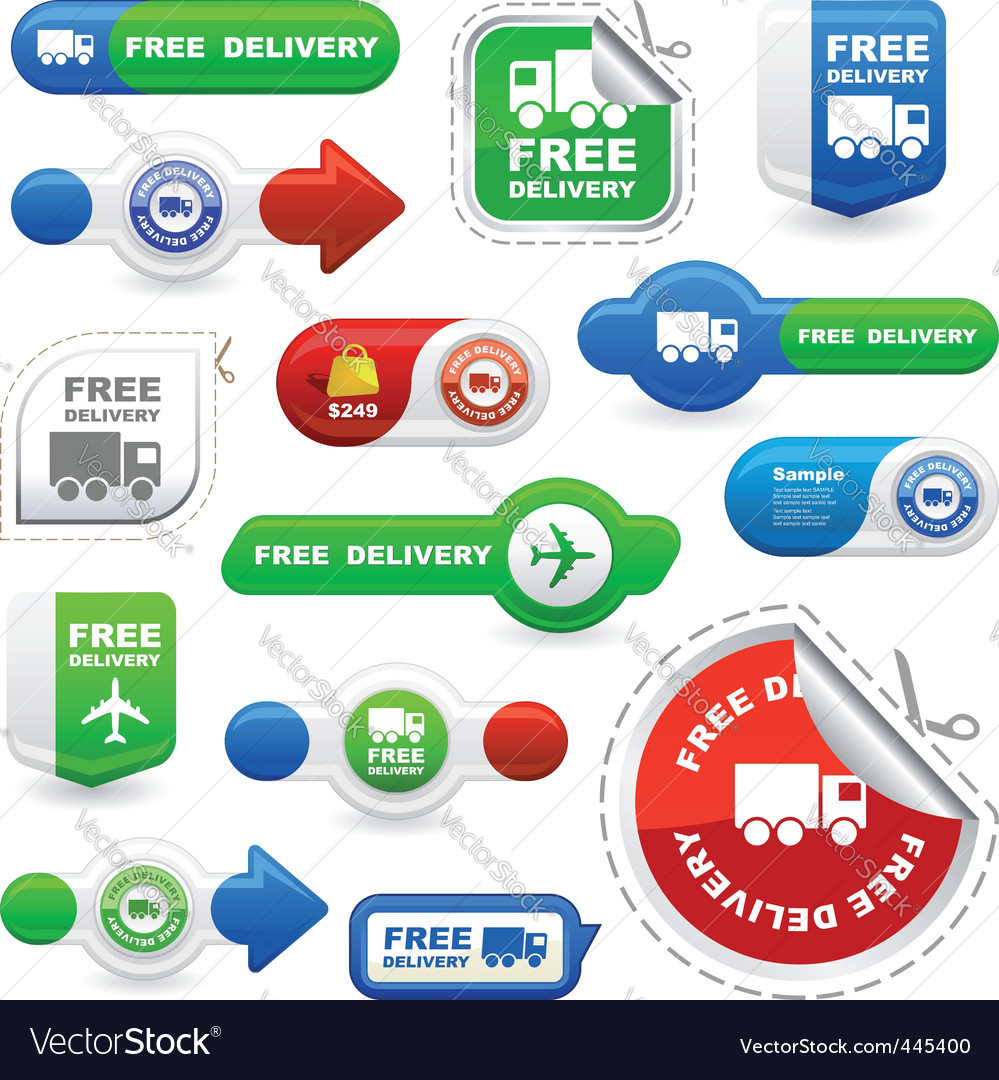 Free delivery vector | Price: 1 Credit (USD $1)