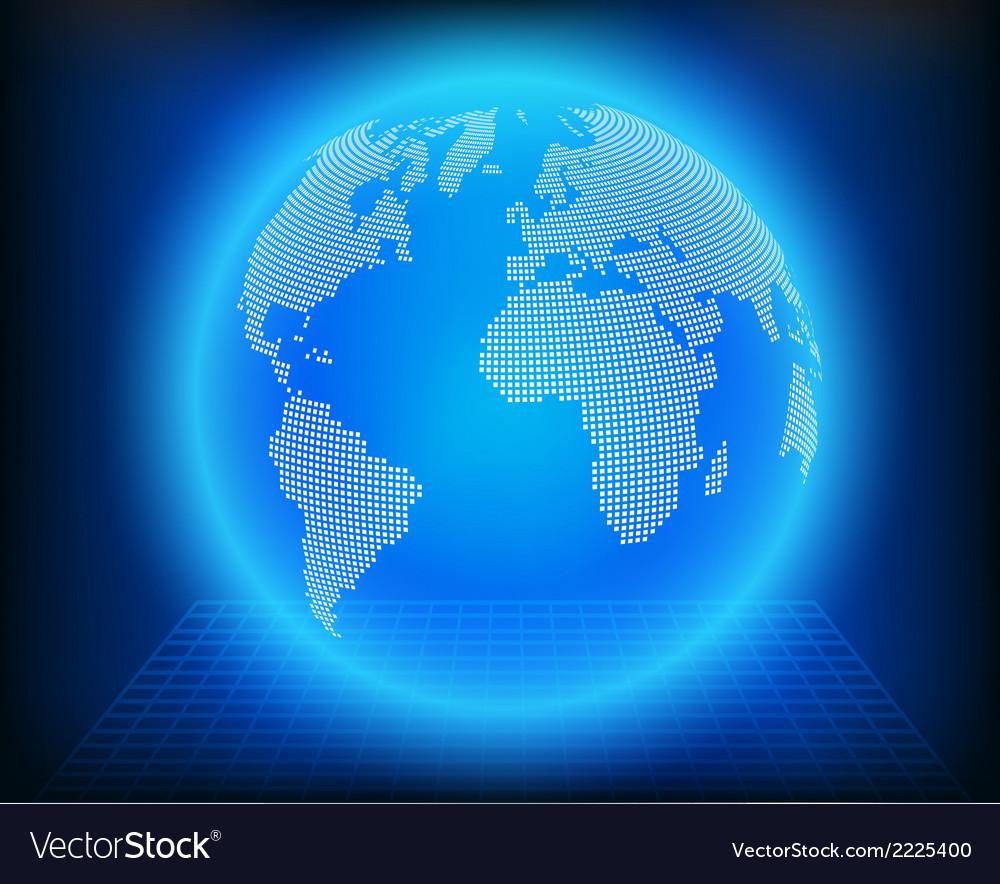 Globe dot vector | Price: 1 Credit (USD $1)