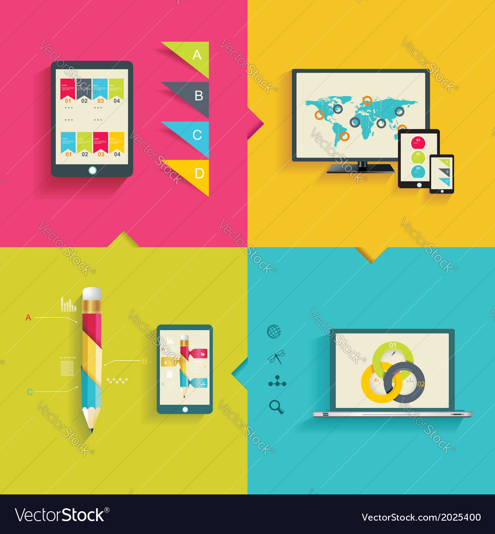 Modern infographic or webdesign concept vector | Price: 1 Credit (USD $1)