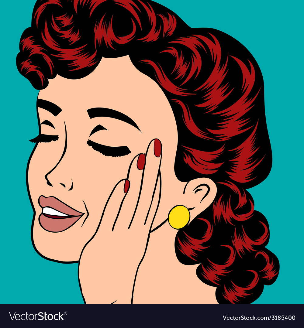 Pop art cute retro woman in comics style vector | Price: 1 Credit (USD $1)