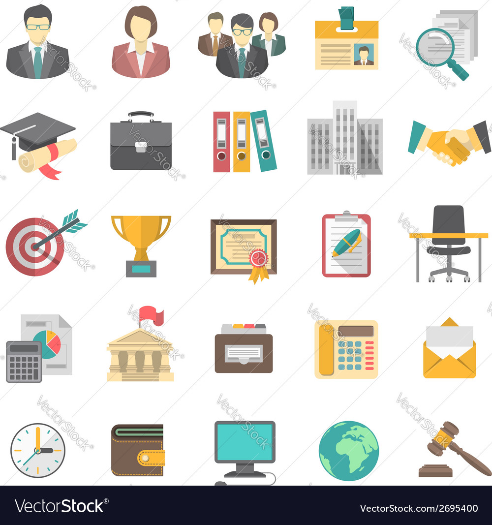 Resume icons vector | Price: 1 Credit (USD $1)