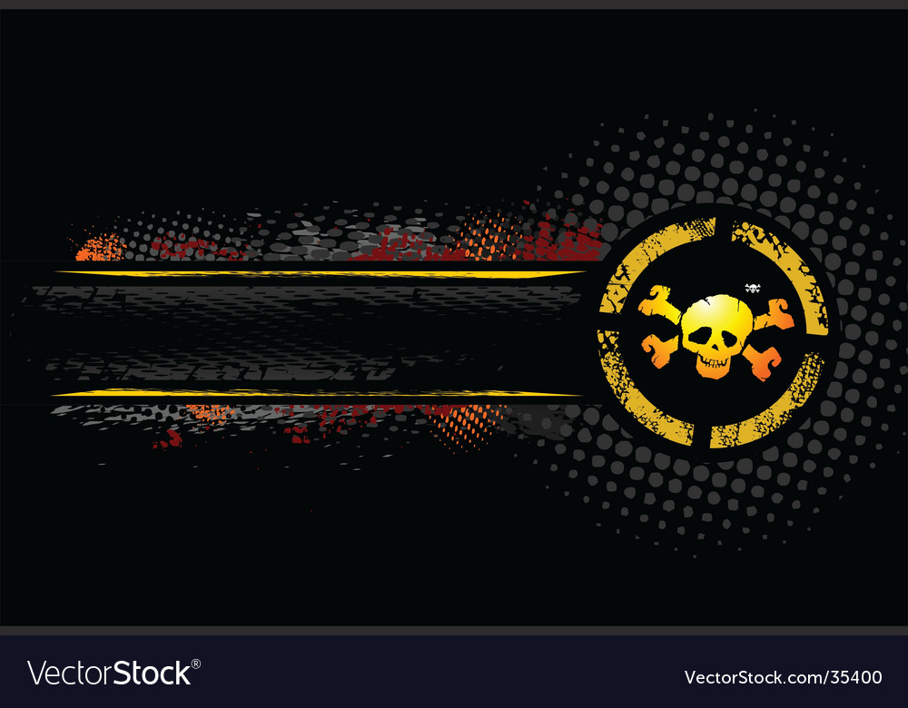 Skull banner vector | Price: 1 Credit (USD $1)