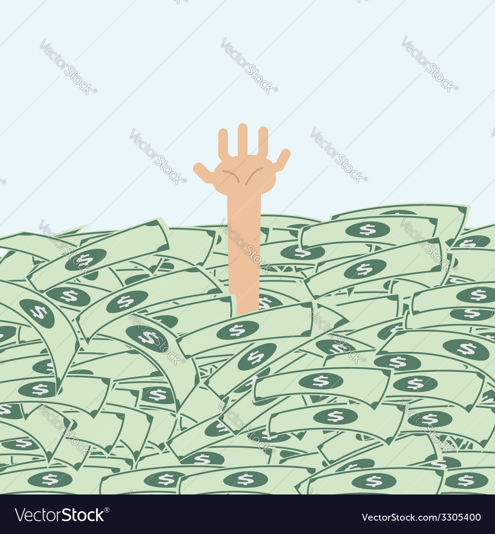 Someone is under the money vector | Price: 1 Credit (USD $1)