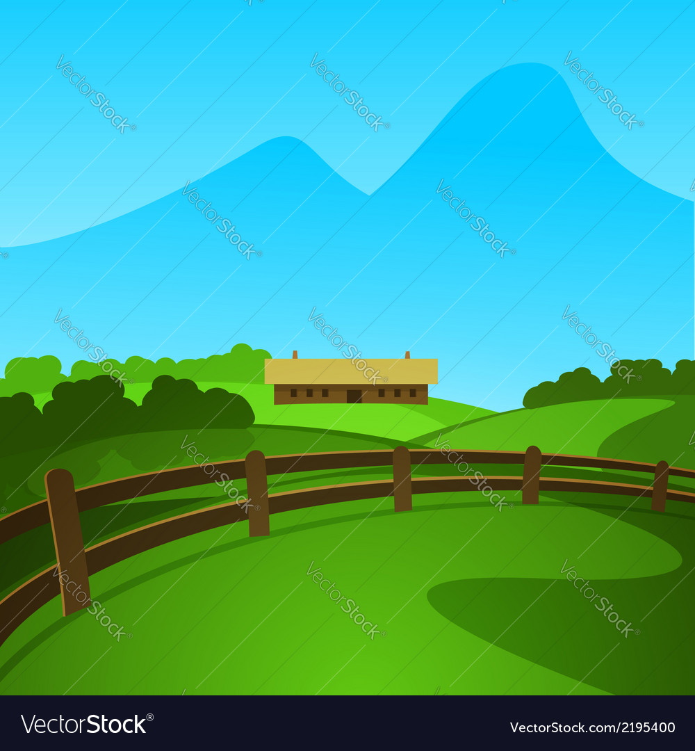 Summer in the valley vector | Price: 1 Credit (USD $1)