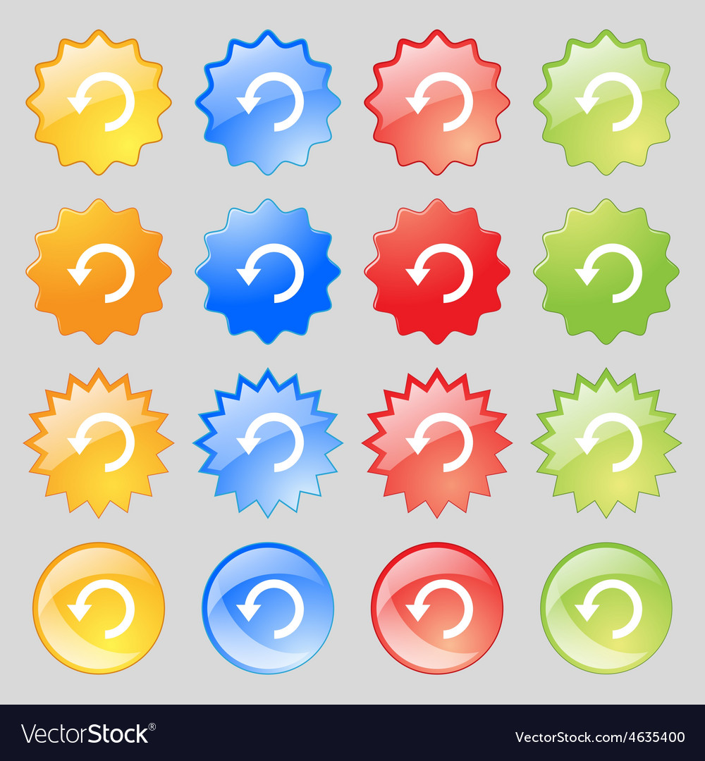 Upgrade arrow update icon sign big set of 16 vector | Price: 1 Credit (USD $1)
