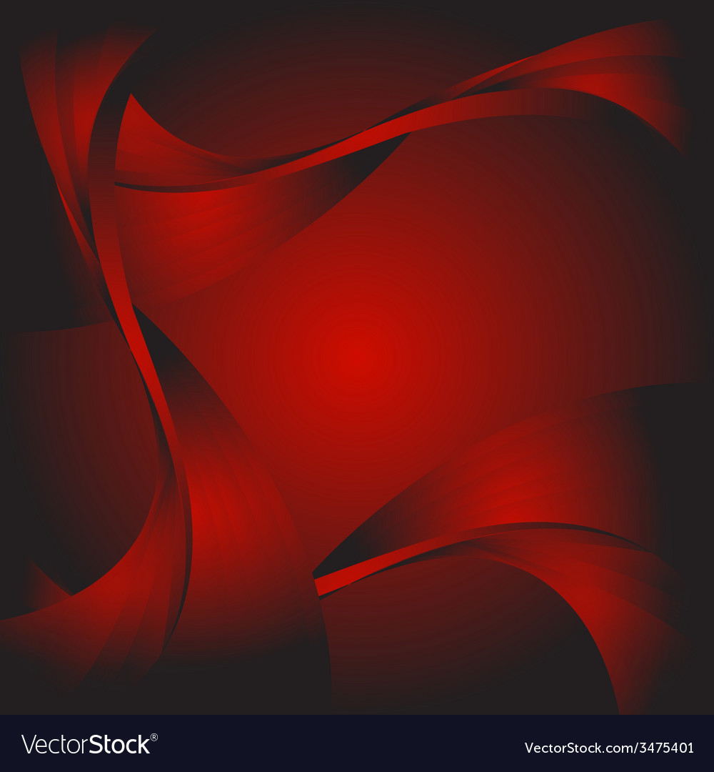 Abstract curve dark red background vector | Price: 1 Credit (USD $1)