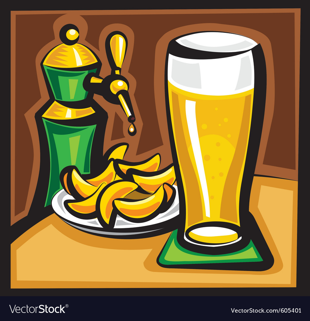Beer and chips vector | Price: 3 Credit (USD $3)