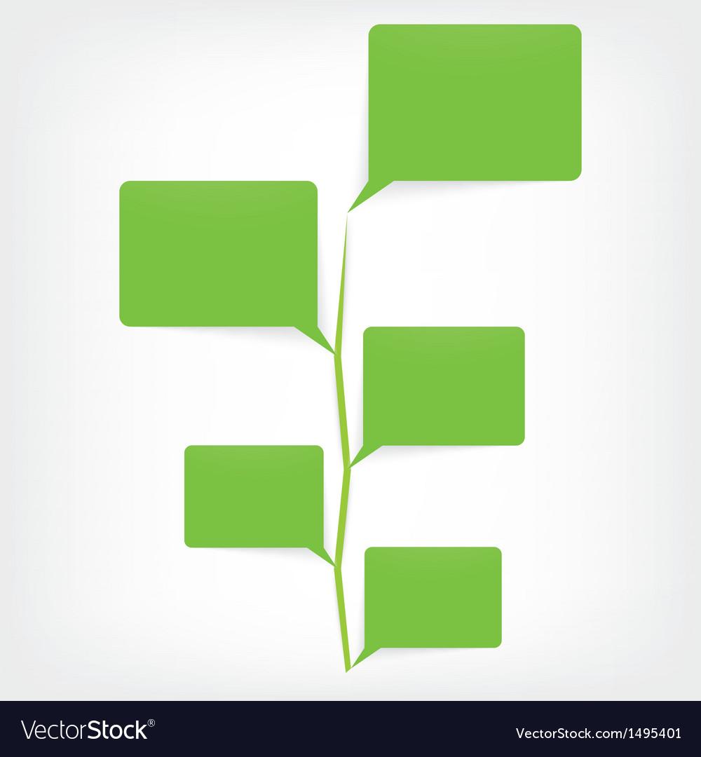 Bubble speech tree icon vector | Price: 1 Credit (USD $1)