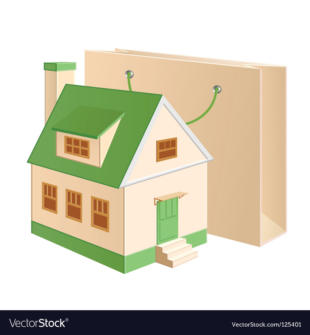 House shopping vector | Price: 1 Credit (USD $1)