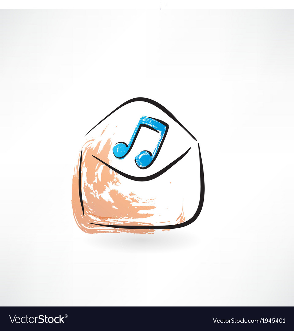 Music in the envelope vector | Price: 1 Credit (USD $1)