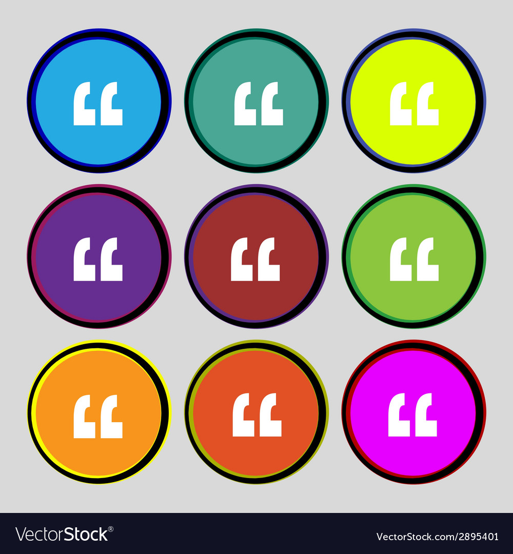 Quote sign icon quotation mark symbol double vector | Price: 1 Credit (USD $1)