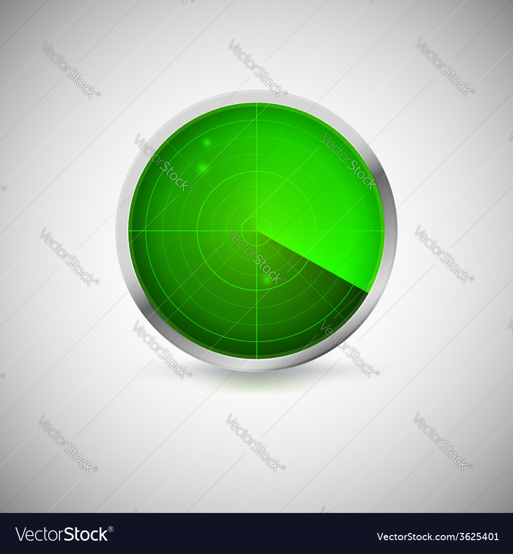 Radial screen of green color with targets vector | Price: 1 Credit (USD $1)