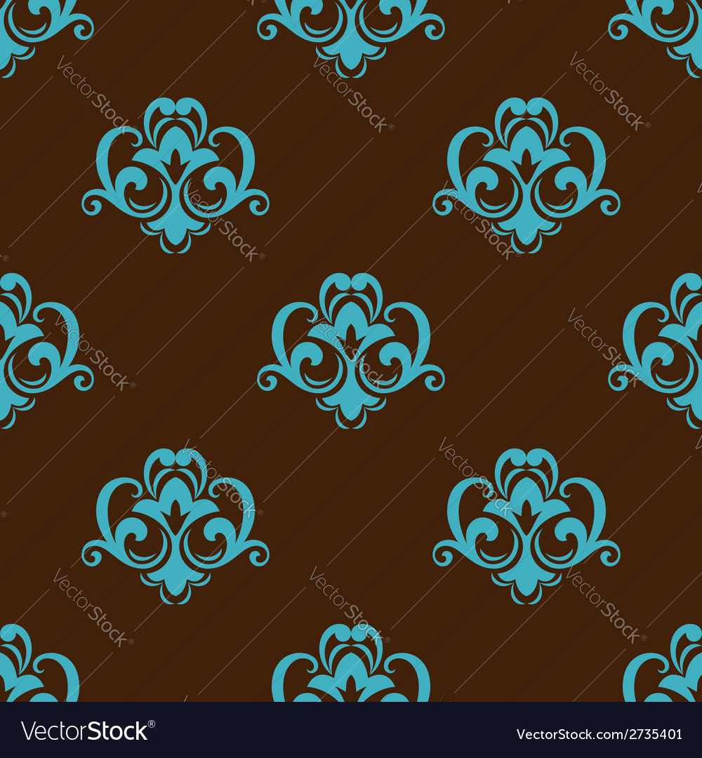 Retro azure seamless pattern vector | Price: 1 Credit (USD $1)