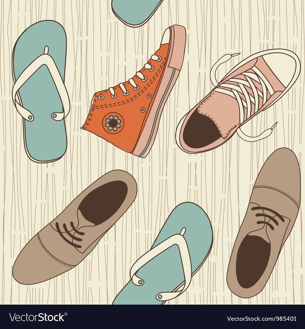 Seamless hip shoe collection vector | Price: 1 Credit (USD $1)