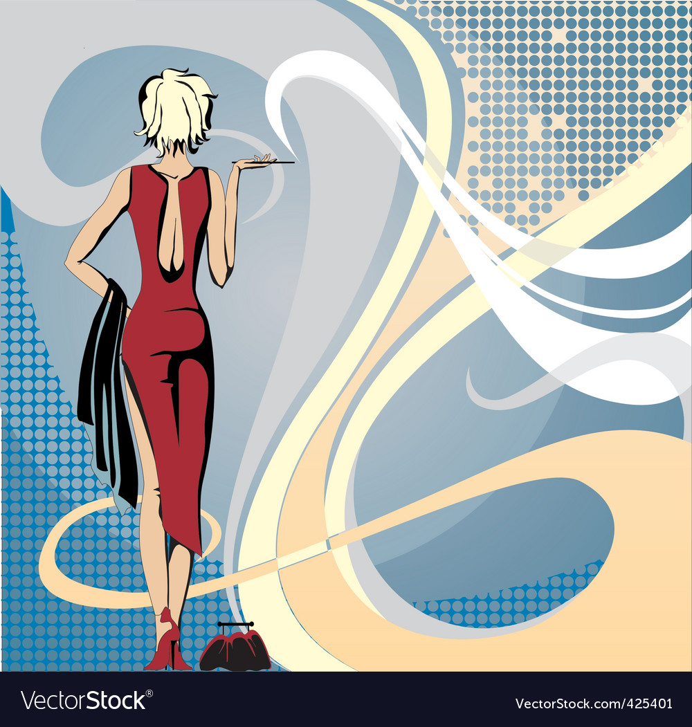 Smoke lady vector | Price: 1 Credit (USD $1)