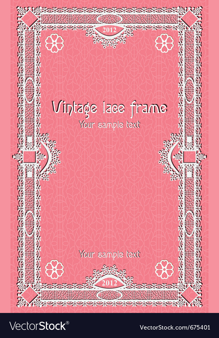 Template lace border frame design for card sertifi vector | Price: 1 Credit (USD $1)