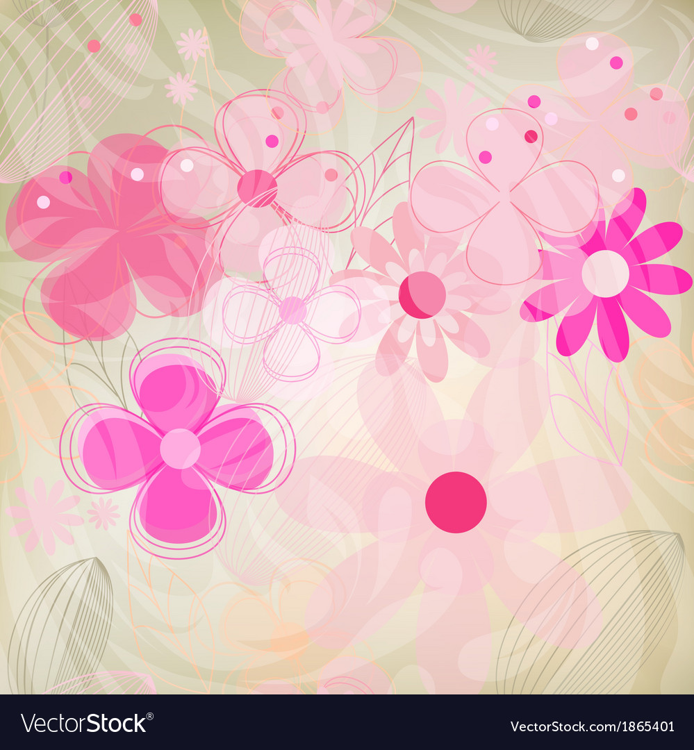 Vintage flower on background vector   Price: 1 Credit (USD $1)
