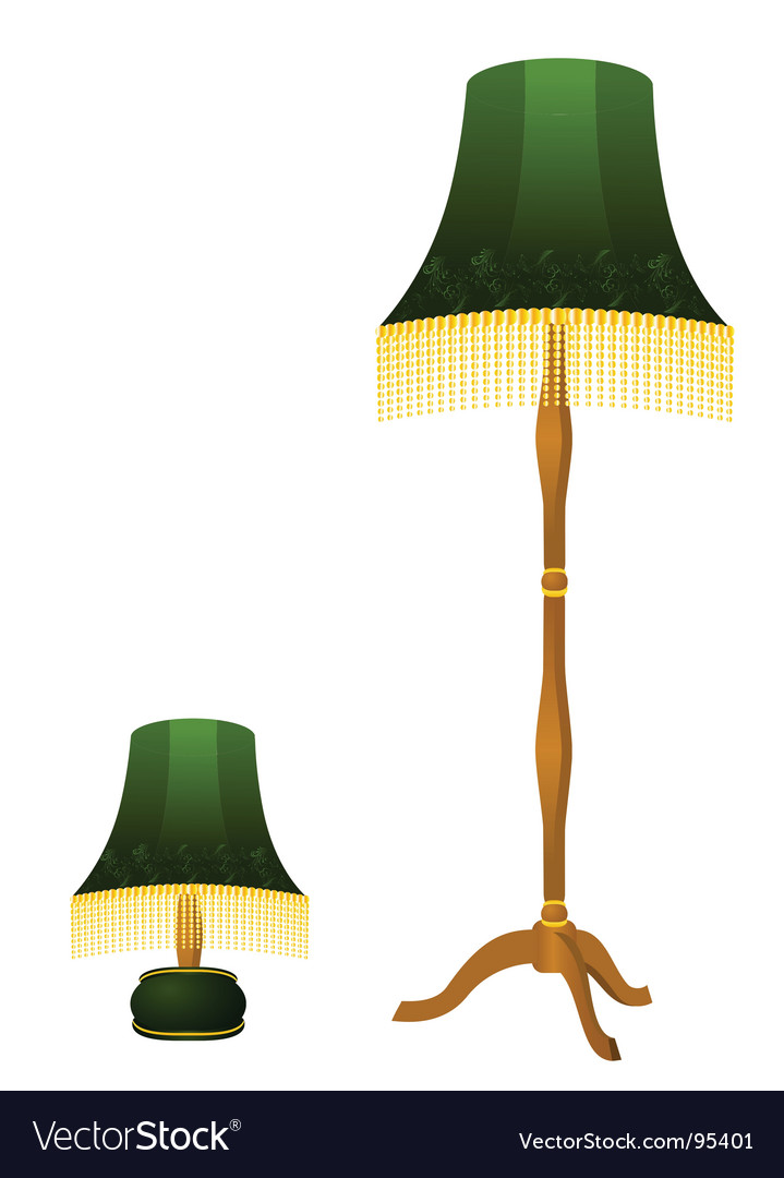 Vintage lamps vector | Price: 1 Credit (USD $1)