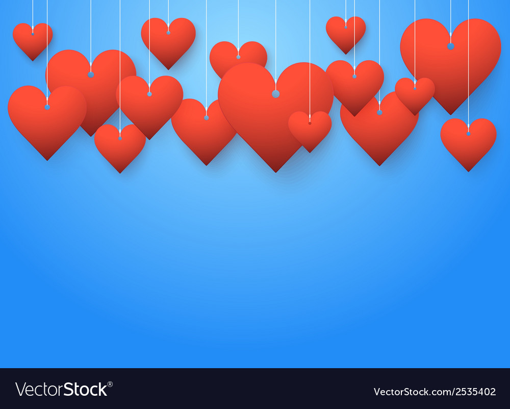 Background beautiful red hearts vector | Price: 1 Credit (USD $1)