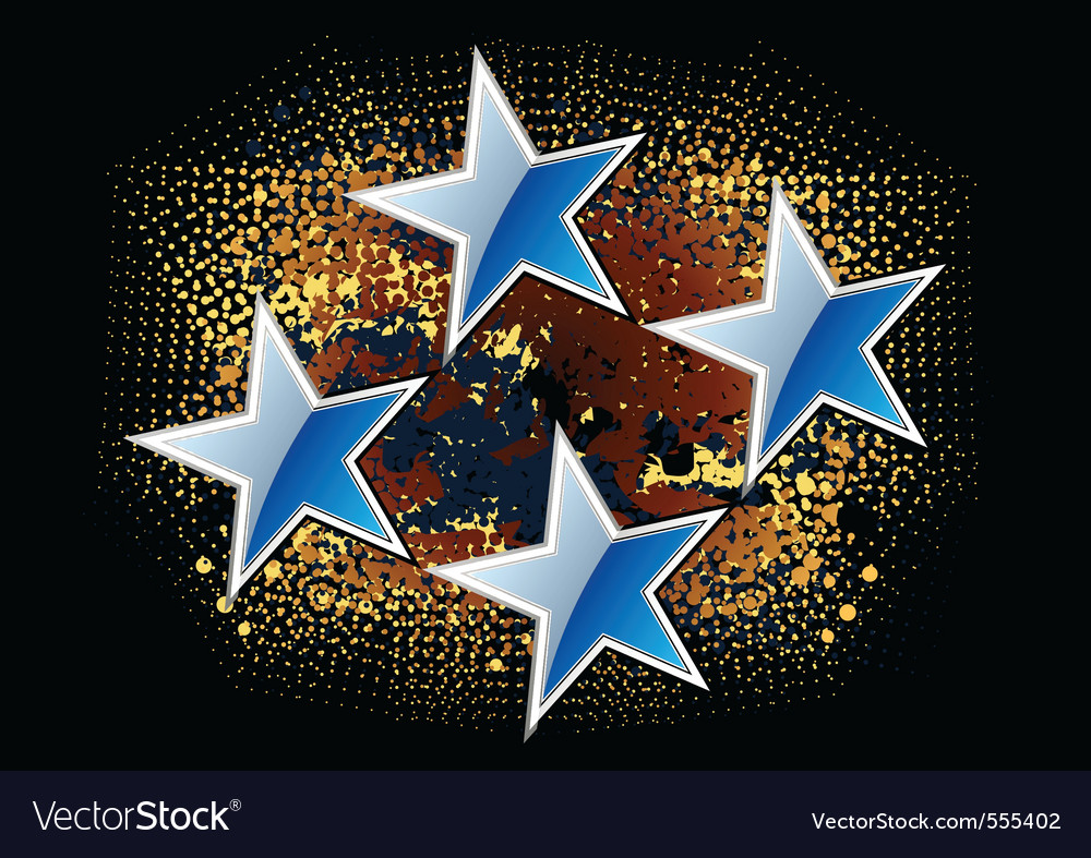 Blue stars on the dark background vector | Price: 1 Credit (USD $1)