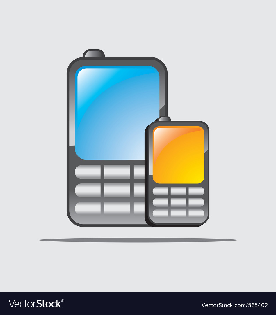 Cellular phones vector | Price: 1 Credit (USD $1)