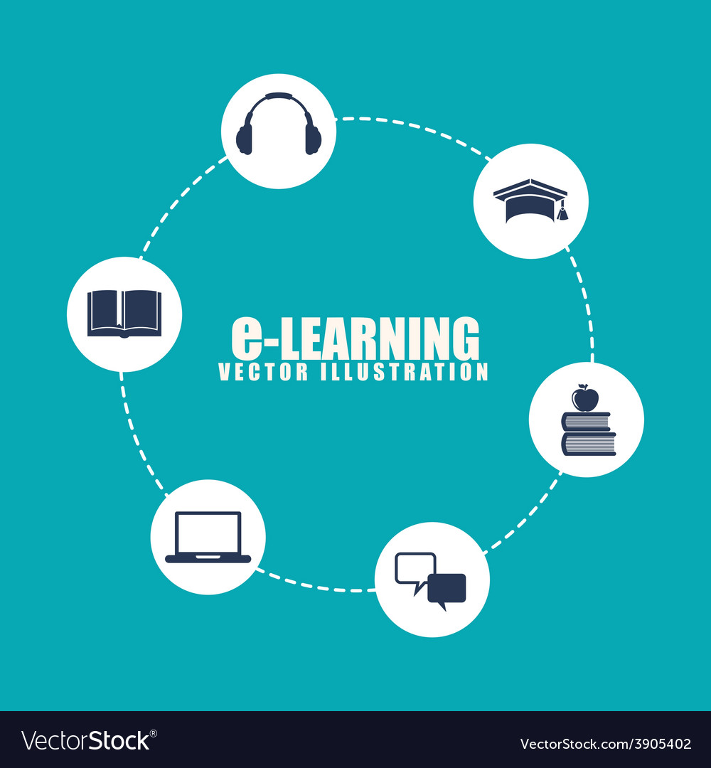 E-learning design vector | Price: 1 Credit (USD $1)