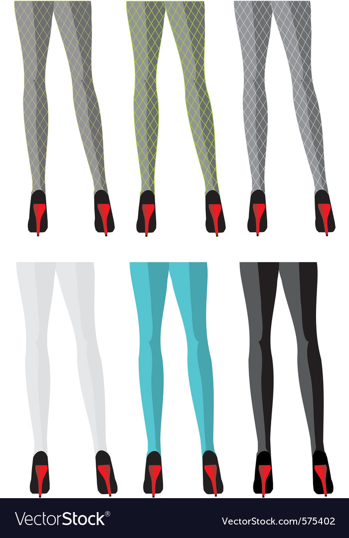 Female legs in stockings vector | Price: 1 Credit (USD $1)