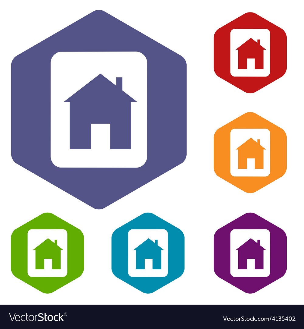 Home rhombus icons vector | Price: 1 Credit (USD $1)