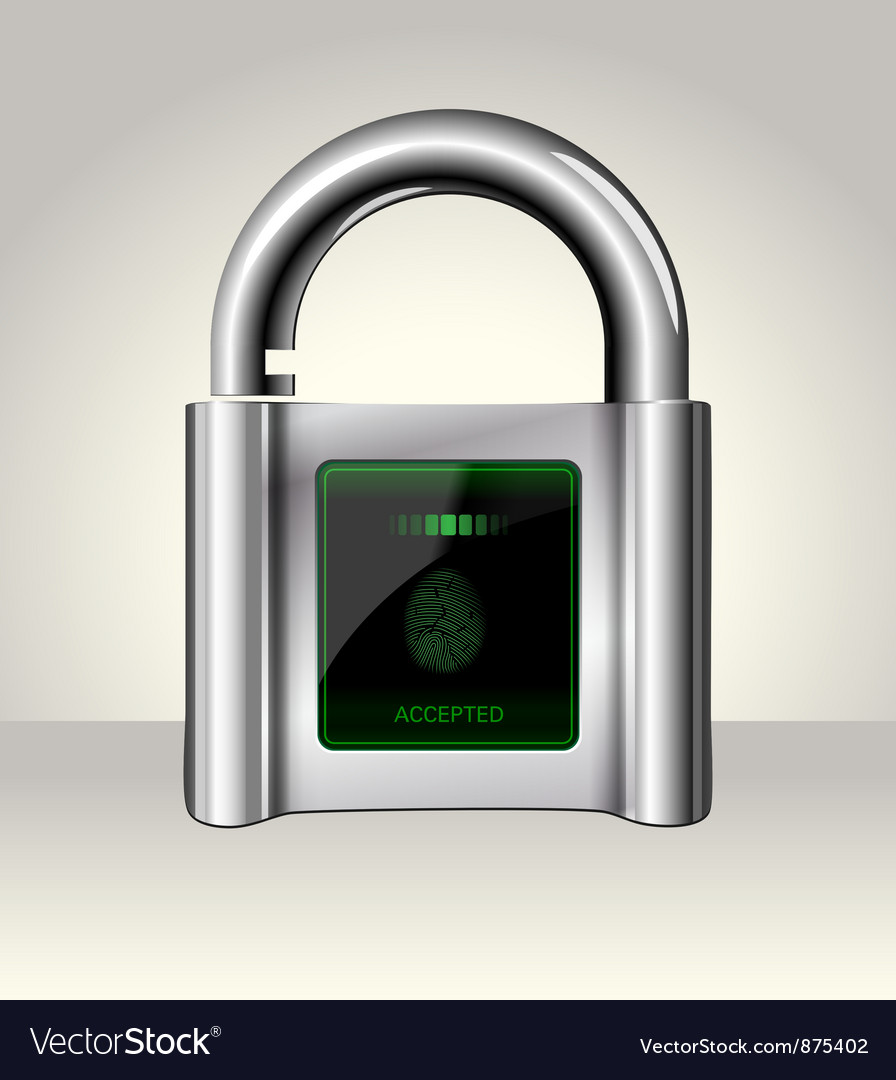 Opened padlock with touch screen vector | Price: 1 Credit (USD $1)
