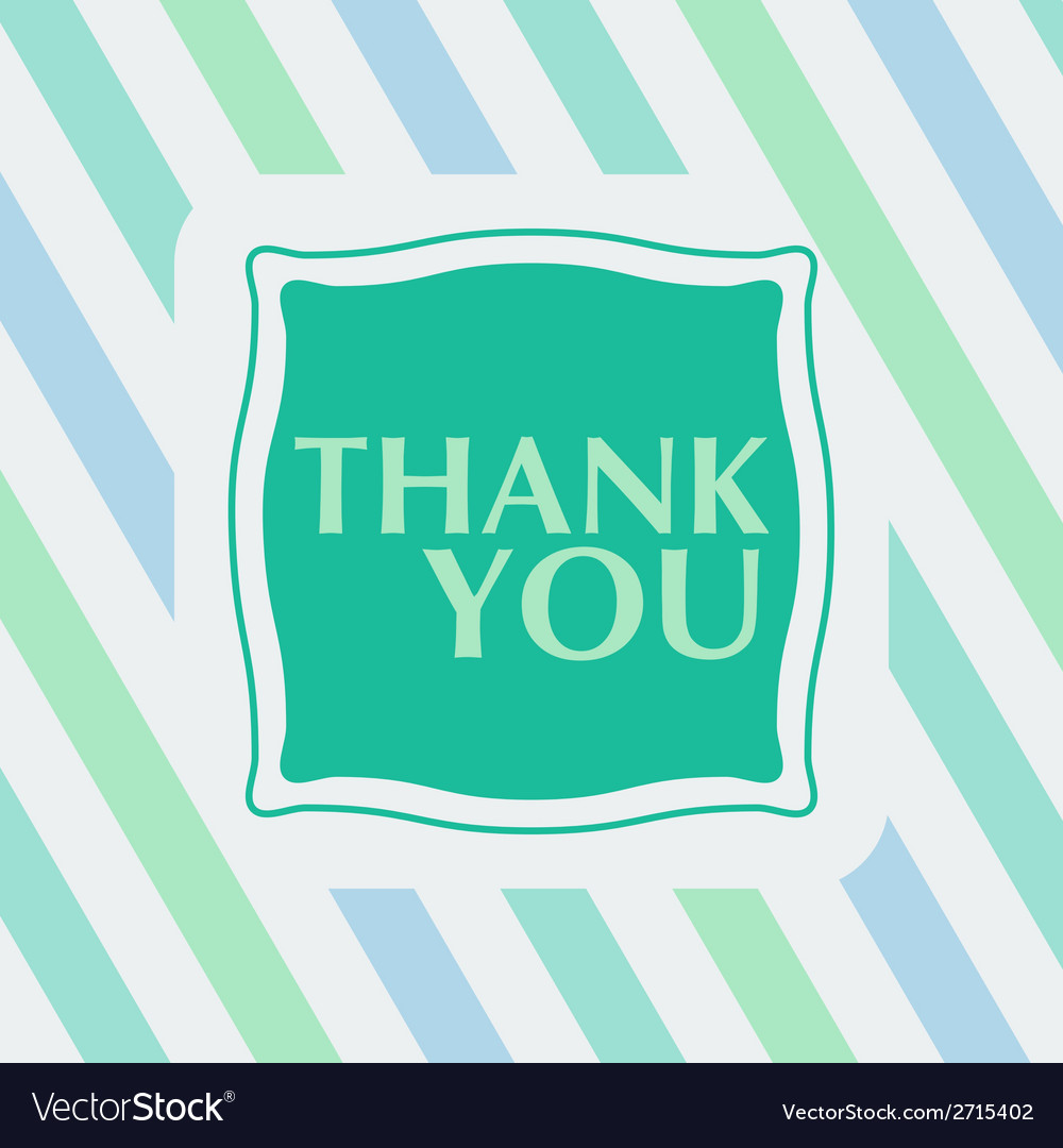 Thank you note on the striped background vector | Price: 1 Credit (USD $1)