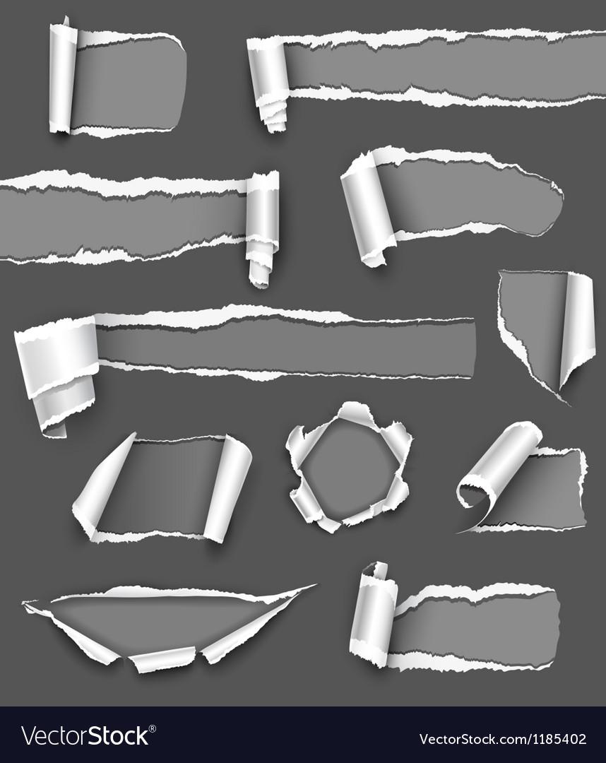 Torn gray paper vector   Price: 1 Credit (USD $1)