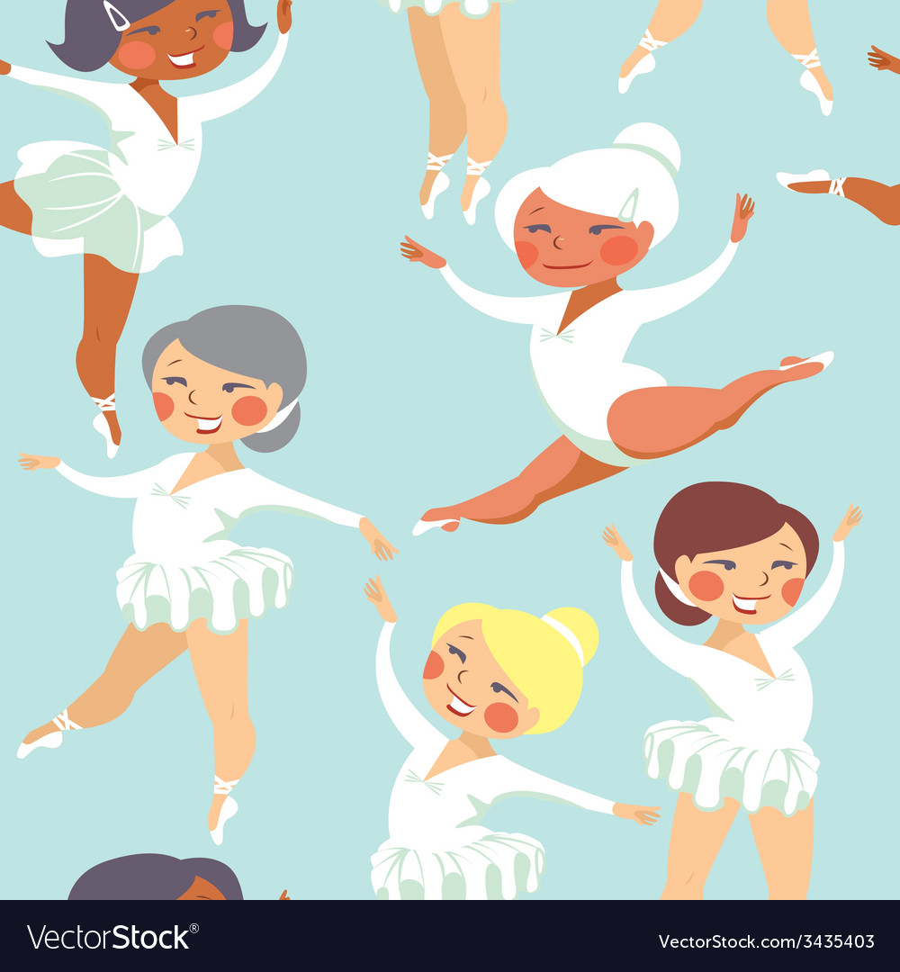 Ballet seamless pattern vector | Price: 1 Credit (USD $1)