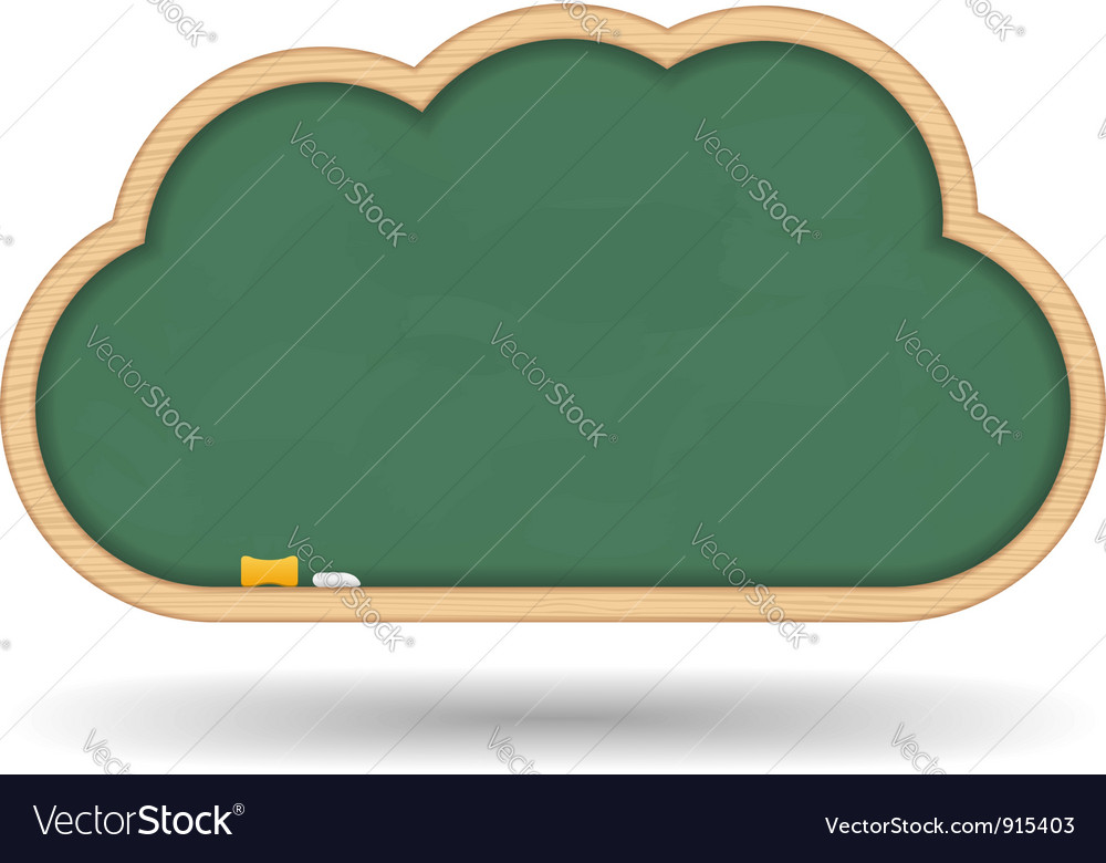 Blackboard cloud vector | Price: 1 Credit (USD $1)