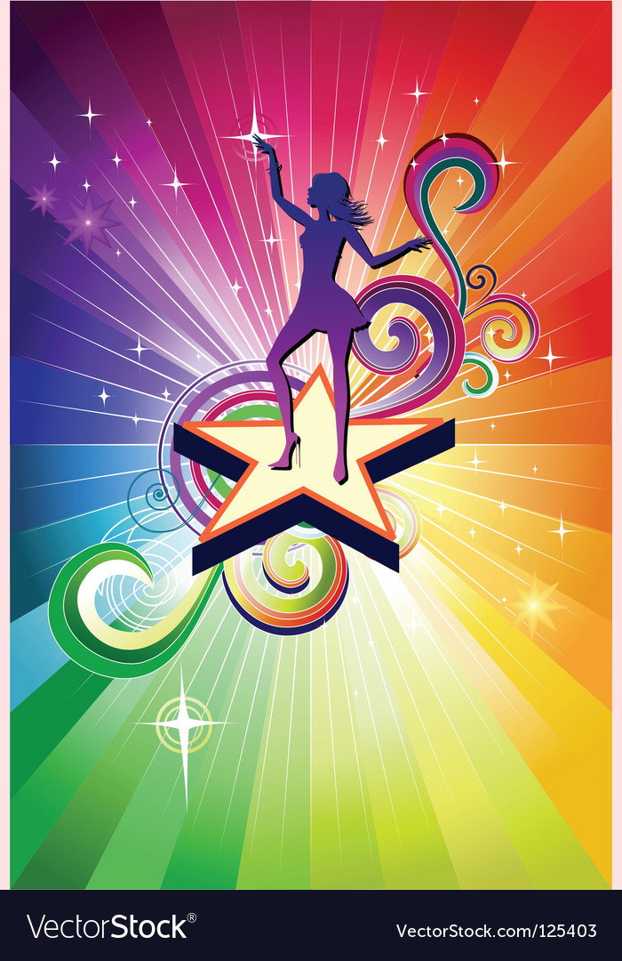 Disco dancing girl vector | Price: 1 Credit (USD $1)