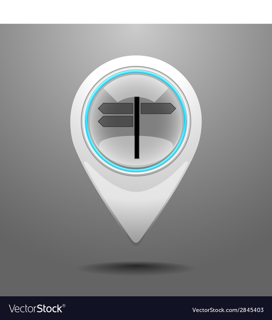 Glossy crossroad icon vector | Price: 1 Credit (USD $1)