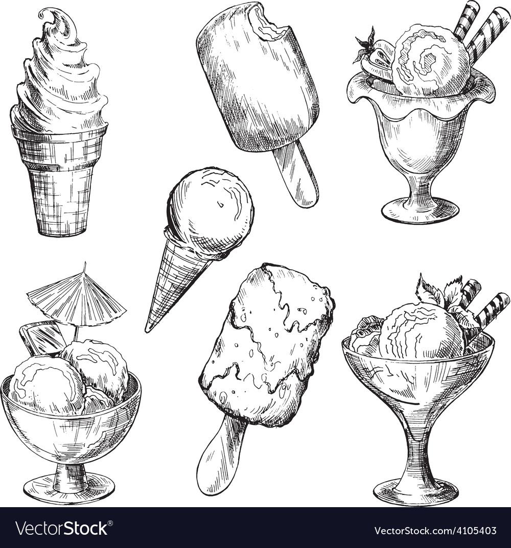 Ice cream set vector | Price: 3 Credit (USD $3)