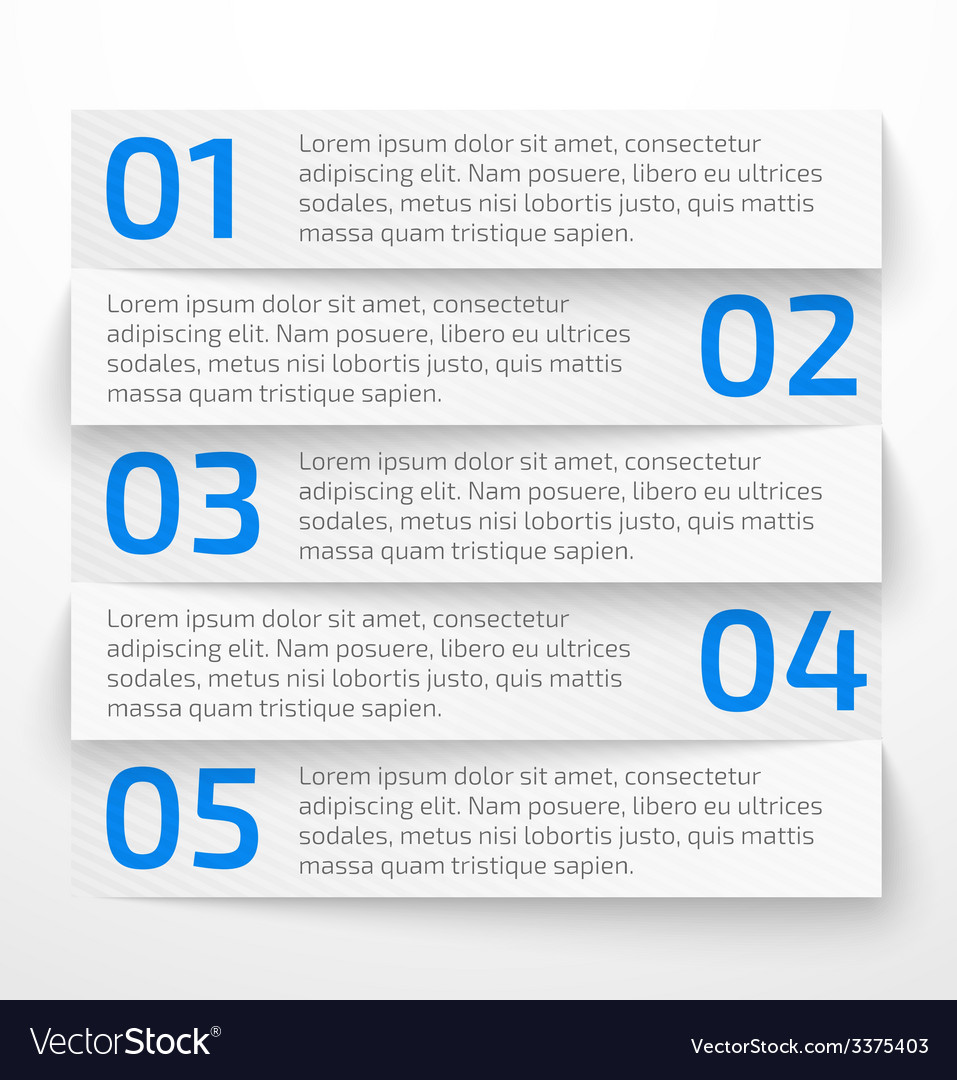 Modern white infographic business options banner vector | Price: 1 Credit (USD $1)