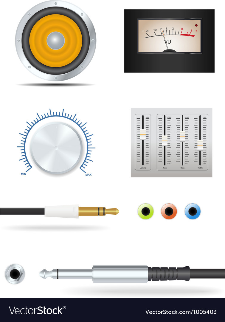 Music devices set vector | Price: 3 Credit (USD $3)