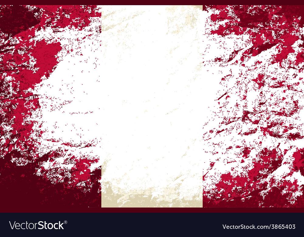 Peruvian flag grunge background vector | Price: 1 Credit (USD $1)