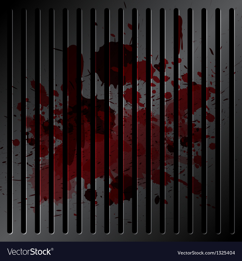 Blood on grille metallic vector | Price: 1 Credit (USD $1)