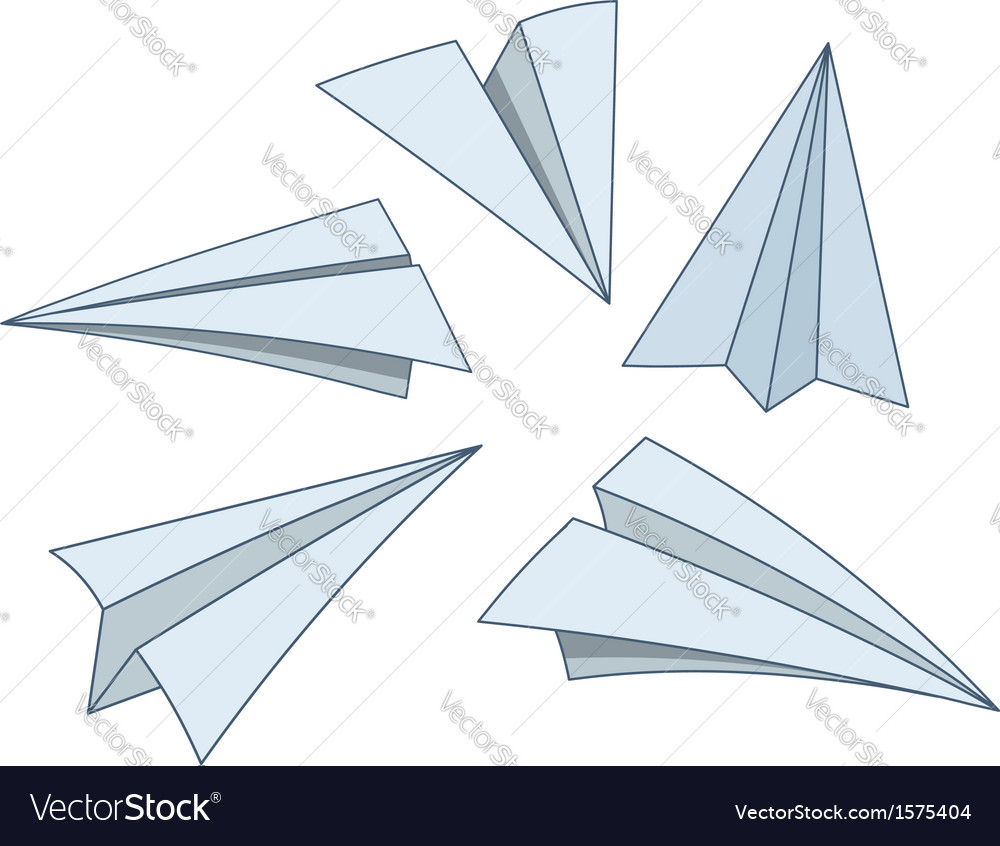 Cartoon paper planes vector | Price: 1 Credit (USD $1)