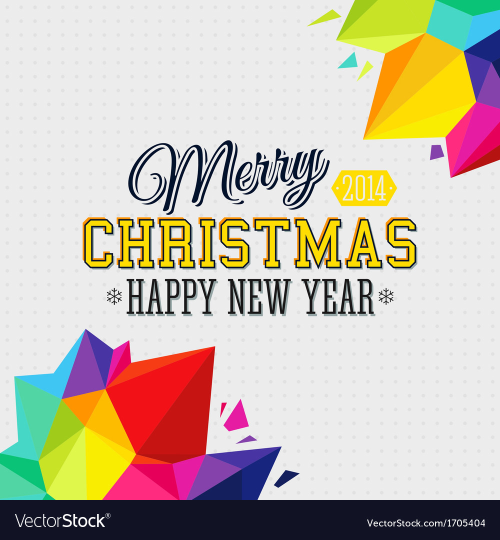 Christmas background with bright triangle elements vector | Price: 1 Credit (USD $1)