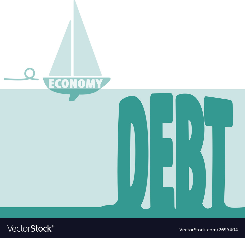Economy and debt vector | Price: 1 Credit (USD $1)