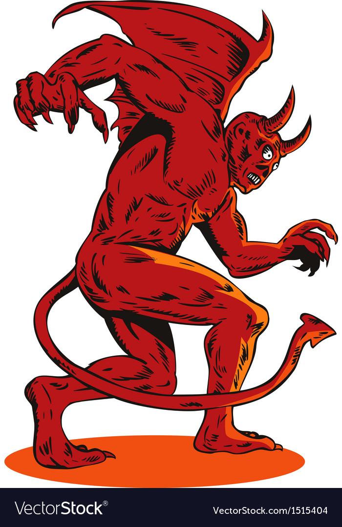 Evil creature monster vector | Price: 1 Credit (USD $1)