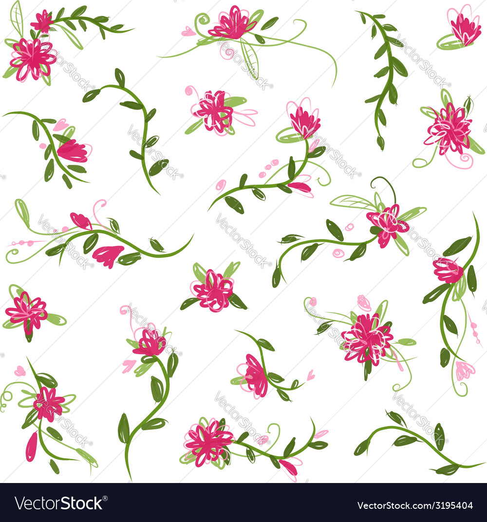 Floral collection for your design vector | Price: 1 Credit (USD $1)